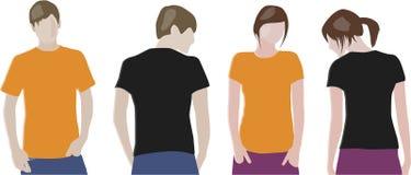 Descripteurs de conception de T-shirt Photographie stock