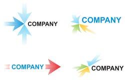 Descripteurs de logo avec des flèches Images libres de droits