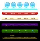 Descripteurs de navigation de Web illustration stock