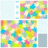 Descripteurs de puzzle denteux Photos libres de droits