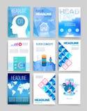 descripteurs Ensemble de conception de Web, courrier, brochures Photos libres de droits