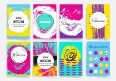 descripteurs Ensemble de conception de Web, courrier, brochures Mobile, technologie, concept d'Infographic photographie stock
