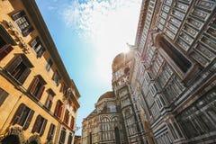 Description: Detail of the facade of Duomo Cathedral Santa Maria Royalty Free Stock Photo