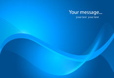 Description: Dynamic Wave Background in blue. Dynamic Wave Background in blue Stock Photography