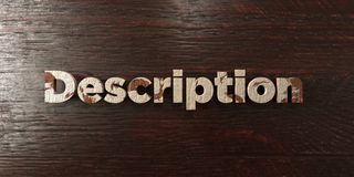 Description - grungy wooden headline on Maple  - 3D rendered royalty free stock image Royalty Free Stock Images