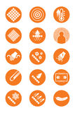 Description icons of clothes Royalty Free Stock Photography