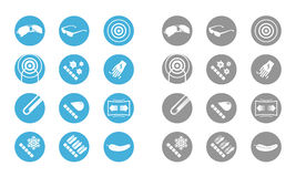 Description icons of glasses (gray blue) Stock Image