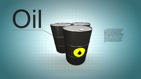 Description of Oil barrel. stock footage