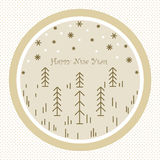 Descrive gli alberi di Natale Immagini Stock Libere da Diritti
