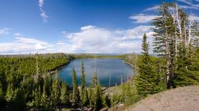 Descrizione del lago Yellowstone immagine stock