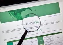 Descrizione di Amazon HQ2 Immagini Stock