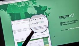 Descrizione di Amazon HQ2 Fotografie Stock Libere da Diritti
