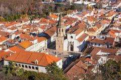 Descrizione di Città Vecchia di Tomar, Portogallo fotografie stock libere da diritti