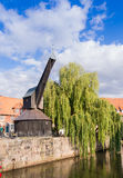 Descubra el lueneburg 10 - impresión de grúa histórica imagen de archivo libre de regalías
