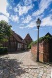 Descubra el lueneburg 13 - impresión de la calle en una abadía vieja Fotografía de archivo