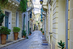 Descubra Malta - calles de Malta fotos de archivo