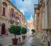 Descubra Malta - calles del mdina fotografía de archivo