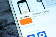 Descubra o app móvel fotos de stock
