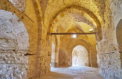 Descubra o castelo de Qaitbay, Alexandria, Egito foto de stock