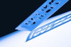 Descubrimiento de cartas y de números Foto de archivo