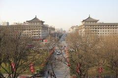 Descubrimiento de China: Calle principal de Xian Foto de archivo