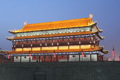Descubrimiento de China: Pared de la ciudad antigua de Xian Imagenes de archivo
