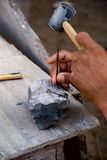 Descubrimiento de los fósiles Imagen de archivo libre de regalías