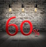 descuente el 60 por ciento apagado con oferta especial del texto su descuento adentro Imagen de archivo libre de regalías
