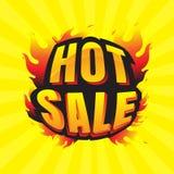 Descuento ardiente y etiquetas de las etiquetas de la venta caliente para la venta caliente bandera Imágenes de archivo libres de regalías