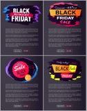 Descuento -45 de Black Friday del ejemplo del vector Foto de archivo