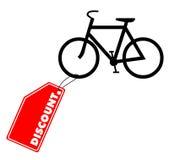 Descuento de la bici Foto de archivo