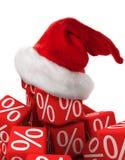 Descuento de la Navidad Imagen de archivo libre de regalías