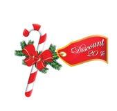 Descuento de las ventas de la Navidad el 20% Imagen de archivo libre de regalías