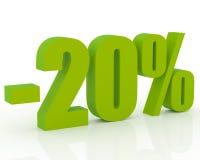 descuento del 20% Foto de archivo libre de regalías