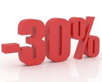 descuento del 30% ilustración del vector