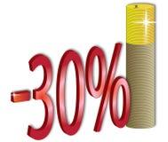 descuento del 30% Fotografía de archivo libre de regalías