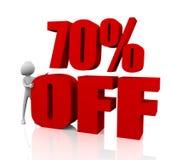 descuento del 70% Imagen de archivo libre de regalías