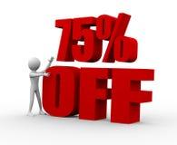 descuento del 75% Imágenes de archivo libres de regalías