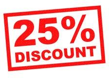 descuento del 25% Imagen de archivo libre de regalías