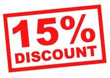 descuento del 15% Imágenes de archivo libres de regalías