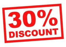 descuento del 30% Imagen de archivo libre de regalías