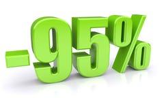 descuento del 95% en un blanco Foto de archivo libre de regalías