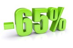 descuento del 65% en un blanco Foto de archivo libre de regalías