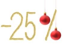 Descuento del invierno el 25% Imagen de archivo libre de regalías