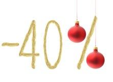 Descuento del invierno el 40% Fotografía de archivo libre de regalías