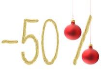 Descuento del invierno el 50% Foto de archivo libre de regalías