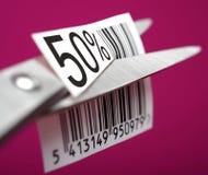 Descuento del medio precio Imágenes de archivo libres de regalías