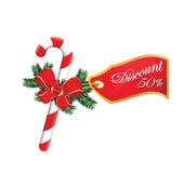 Descuento del ornamento 50%Sales de la Navidad Imagen de archivo libre de regalías