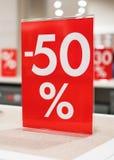 descuento del 50 por ciento Imagen de archivo libre de regalías