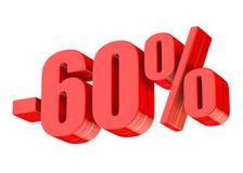 descuento del 60 por ciento ilustración del vector